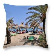 Vai Beach Throw Pillow