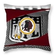 Washington Redskins Throw Pillow by Joe Hamilton