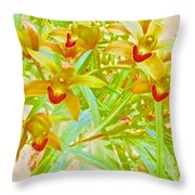 Laughing Girls Watercolor Photography Throw Pillow