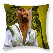 Yorkshire Terrier Art Canvas Print Throw Pillow