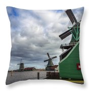 Zaanse Schans Throw Pillow