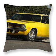 '70 Hemi 'cuda Throw Pillow
