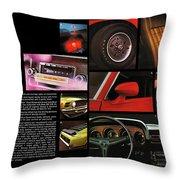 '70 Mustang Options Throw Pillow