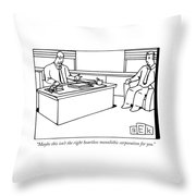 Maybe This Isn't The Right Heartless Monolithic Throw Pillow
