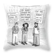 New Yorker December 3rd, 2007 Throw Pillow