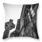 700 Years Of Irish History At Quin Abbey Throw Pillow