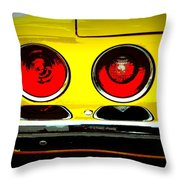 71 Camaro Tail Lights Throw Pillow