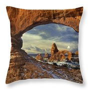 714000087 Turret Arch Arches National Park Throw Pillow