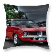 72 Cuda Throw Pillow
