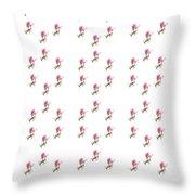 72 Dancing Pink Magnolias Panel Throw Pillow