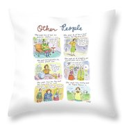 Other People Throw Pillow