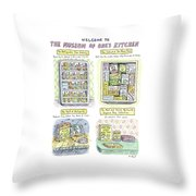 New Yorker August 13th, 2007 Throw Pillow