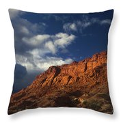 clearing storm waterpocket fold capitol reef NP Throw Pillow