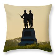 73rd Ny Infantry 2nd Fire Zouaves Throw Pillow