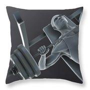 Exercise Workout Throw Pillow