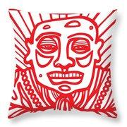 Pisco Buddha Red White Throw Pillow