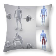 Exercise Workout Throw Pillow