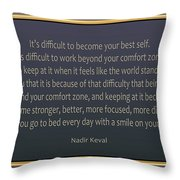 76- Nadir Keval Throw Pillow