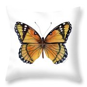 76 Viceroy Butterfly Throw Pillow by Amy Kirkpatrick
