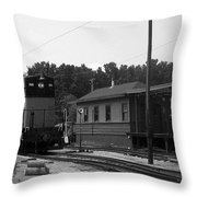 760 Passing The Yard House Bw Throw Pillow