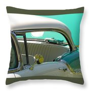 #766 D86 Mini Holiday Oldsmobile Antique Cars  Throw Pillow