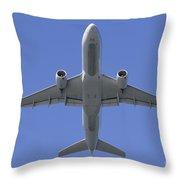 777 Overhead Throw Pillow