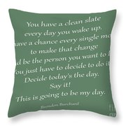 79- Brendon Burchard  Throw Pillow