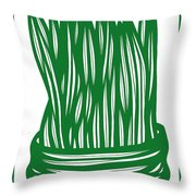 Hassenplug Plant Leaves Green White Throw Pillow