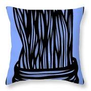 Chidester Plant Leaves Blue Black Throw Pillow