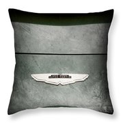 1959 Aston Martin Db4 Gt Hood Emblem Throw Pillow