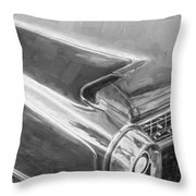 1960 Cadillac Eldorado Biarritz Convertible Painted Bw    Throw Pillow