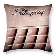 1972 Chevrolet Corvette Stingray Emblem Throw Pillow
