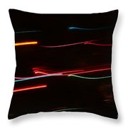 Abstract Motion Lights Throw Pillow