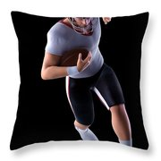 American Football Player Throw Pillow
