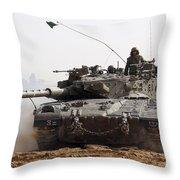 An Israel Defense Force Merkava Mark II Throw Pillow