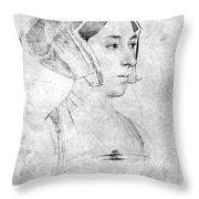 Anne Boleyn (1507-1536) Throw Pillow