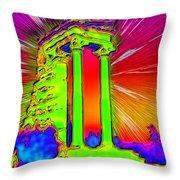 Apollo Sanctuary - Cyprus Throw Pillow