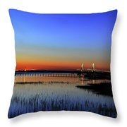 Lights Blaze In Dusking Sky Throw Pillow