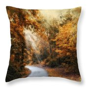 Late Autumn Trail Throw Pillow