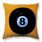 8 Ball Throw Pillow