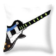 8 Bit Gibson Les Paul Throw Pillow