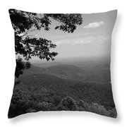 Blue Ridge Mountains - Virginia Bw Throw Pillow