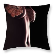 Breast Anatomy Throw Pillow