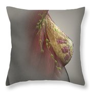 Breast Examination Throw Pillow