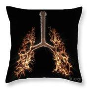 Bronchial Branches Throw Pillow