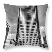Canary Wharf Tower Throw Pillow