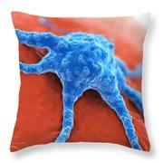 Cancer Cell Throw Pillow