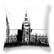 Cathedral Of St Vitus Throw Pillow