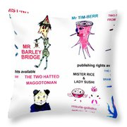 8 Super Hero,  Characters Of 35 From Wheatshire Throw Pillow