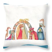 Christmas Nativity Scene Throw Pillow